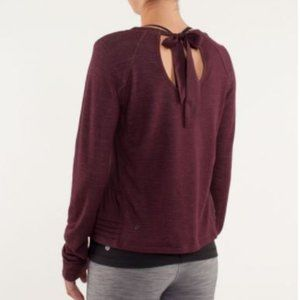 Lululemon Sattva Merino Wool burgundy Sweatshirt 6